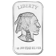 1 oz SilverTowne Buffalo Silver Bar (New)