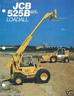 Equipment Brochure - JCB - 525B 4HL Loadall Material Handler c1985 2 item(E3120)