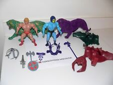 MOTU Vintage He-Man with Battle Cat and Skeletor with Panthor Action Figures