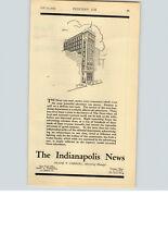 1923 Paper Ad Newspaper Indianapolis News Frank T Carroll Dan J E Lutz