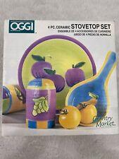 OGGI Country Market 4 Pc Ceramic Stovetop Set