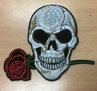 Hot 1pcs skeleton Pattern Embroidered Cloth Iron On Patch Sew Motif Applique