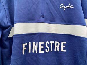 Rapha cycling jersey Finestre Blue Merino Long Sleeve Medium