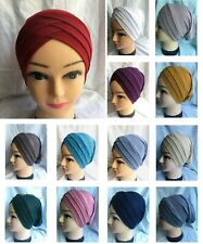 Ladies Cap Chemo Bonnet Head Cover Beany Cap Turban Polyester Many Colours