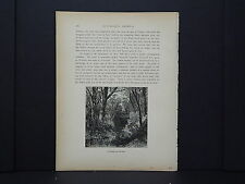One In-Text Engraving, c 1872 S4#011 Old Bridge, near Red Bank, New Jersey