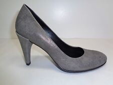 Ecco Size 5 to 5.5 Eur 36 SHAPE 75 Grey Leather Pumps Heels New Womens Shoes