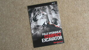 TAKEUCHI TB175 FULLY HYDRAULIC COMPACT EXCAVATOR BROCHURE