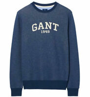 Men's GANT Indigo Blue Graphic Crew neck Sweatshirt S to XXL