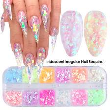 12 Grids/box Nail Art Glitter Powder Fairy Sequins Laser Flakes Decoration Diy K