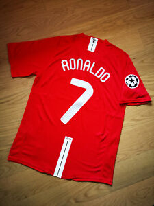 2008 Manchester United Champions Final Vintage Soccer Jersey #7 RONALDO [M]