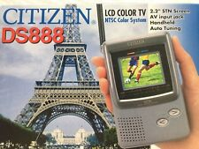 """Citizen Ds888 Lcd Color Tv, Handheld, 2.2"""", New, Never Used, Free Shipping"""