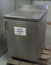Stainless Steel Bottom Cabinet 1 Shelf Withsplash Guard 36t X 26d X 25w