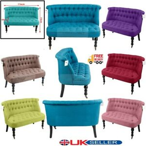Sofa Chair Tufted Back Buttons Lounge Dining Room Home Office 2 Seater Armchair