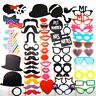 58 Colorful Photo Booth Props On A Stick Moustache Wedding Party Fun Games