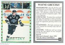 Wayne Gretzky LA Kings Investors Journal June 1994 Promo Hockey Trading Card
