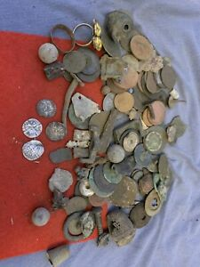 metal detecting finds job lot, Coins Silver Hammered, Medieval, Nice Mixed Lot 7