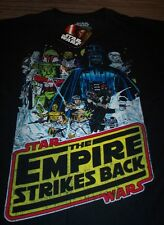 VINTAGE STYLE STAR WARS THE EMPIRE STRIKES BACK T-Shirt SMALL NEW BOBA FETT