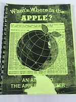 """VINTAGE APPLE COMPUTER USERS MANUAL, """" AN ATLAS TO THE APPLE COMPUTER """".  D-1"""