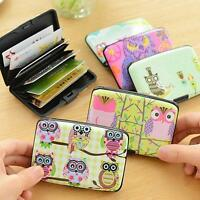 Plastic Case Holder ID Credit Wallet Owl Card Bag Protector