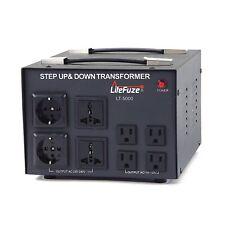 LiteFuze LT-5000 5000 Watt Voltage Converter Transformer Step Up/Down 110-220V