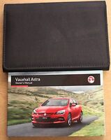 GENUINE VAUXHALL ASTRA J OWNERS MANUAL HANDBOOK 2012-2016 PACK 13549