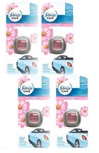 4 X Pack Febreze Blossom & Breeze Air Freshener Clip On Car Van Vehicle Scent