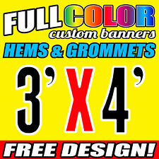 Personalised Outdoor Vinyl Banner Sign - 914 MM x 1219 MM- Custom Made