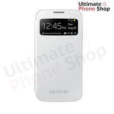 Genuine Samsung Galaxy S4 S View Smart Battery Screen Cover Flip Case White