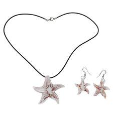 Ensemble étoile de mer Lampwork Verre Collier Pendentif Boucles d'oreilles Hot K2P7