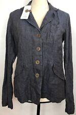 Eileen Fisher Womens 8 Petite Dapple Gray Rumpled Linen Delave Jacket Blazer A29
