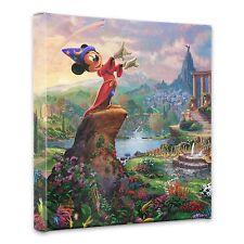 """(New) Thomas Kinkade Disney Dreams Collection """"Fantasia"""" 14 x 14 Wrap"""
