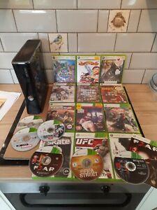 Xbox 360 Slim Black Console + 18 Games