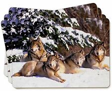 Wolves in Snow Picture Placemats in Gift Box, AW-8P