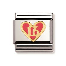 """Nomination Original Classic Stainless Steel & 18k and  Enamel Sweet """"16"""" *NEW*"""