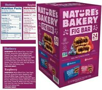 Nature's Bakery Whole Wheat Fig Bar Raspberry & Blueberry Non-GMO 24-pack