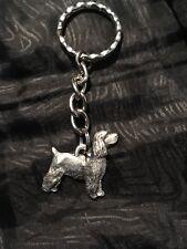 Cocker Spaniel Dog Pewter Keychain