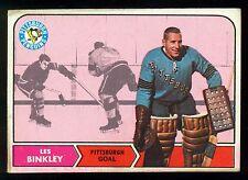 1968 69 TOPPS HOCKEY #100 LES BINKLEY RC VG-EX PITTSBURGH PENGUINS ROOKIE CARD