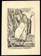 santino stampa popolare 1800 S.RUFILLO V. DI FORLIMPOPOLI