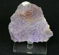 Natural Clear Purple Edge Fluorite Quartz Crystal Cluster Mineral Specimen,China