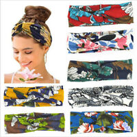 Women's Knot Cross Wide Elastic Head Wrap Fashion Hair Bands Stretchy Headband