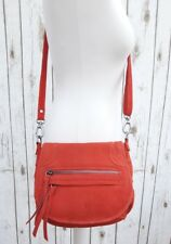 Oasis Red Suede Leather Messenger Crossbody Shoulder Bag Handbag Saddle