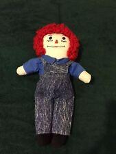 "Handmade Raggedy Andy 13"" Stuffed Cloth Doll"