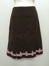 Womens Express Wool Blend Skirt Heather Brown Pink Lace Sequin Trim Size 2 NWOT