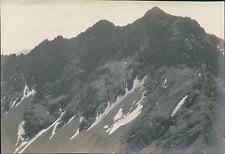 France, Alpes, Vue sur le Grand Rognon (1851m) Vintage silver print Tirage a