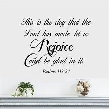 This is the Day that the Lord has Made Wall lettering Vinyl Decal Bible Verse