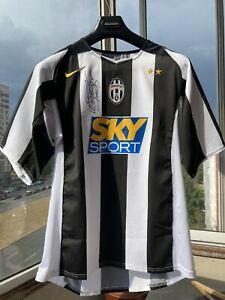 Juventus 2004/05 jersey trikot maillot maglia signed by David Trezeguet size M