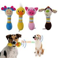 Pet Puppy Dog Toy Funny Animal Shape Plush Sound Squeaker Squeaky Chew Play Ball