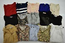 Wholesale Bulk Lot of 15 Womens Medium Long Sleeve Tops Blouses Fall Spring