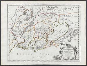 Sanson - Ukraine, Black Sea Map. 2-59, 1670 Cartes Folio Hand-Colored Engraving