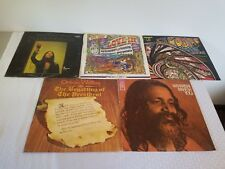 lot of 5 psychedelic hippie 1960s wood stock sample acid records zodiac funk zen